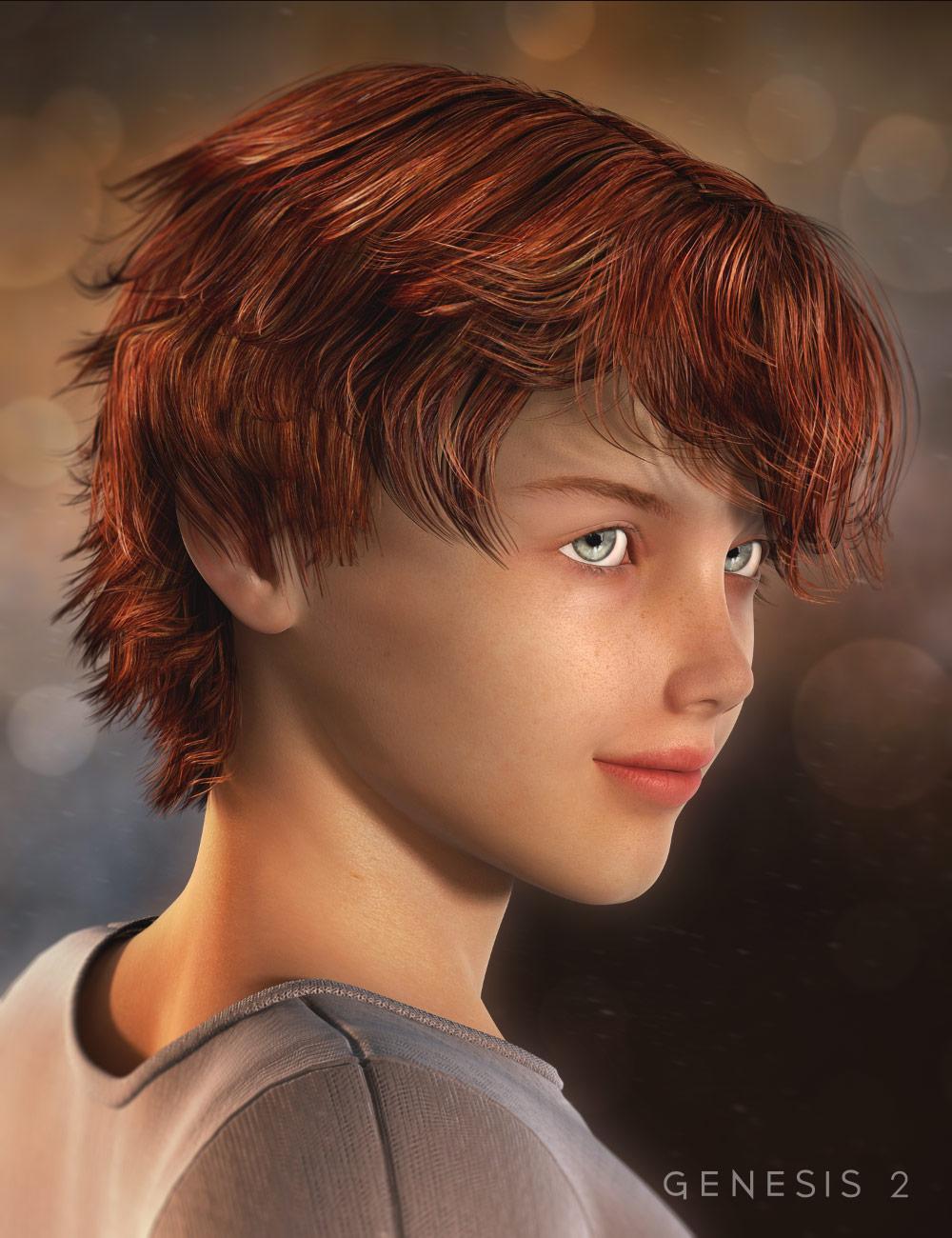 Wyatt Hair for Genesis 2 Male(s) by: goldtassel, 3D Models by Daz 3D
