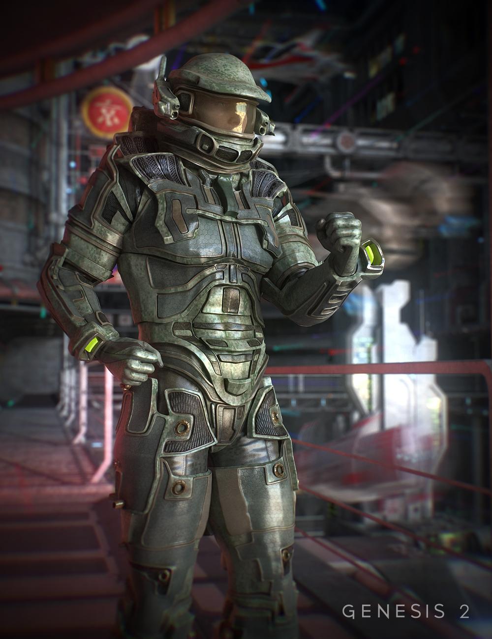 Space Hunter for Genesis 2 Male(s) by: ArienBarbara Brundon, 3D Models by Daz 3D