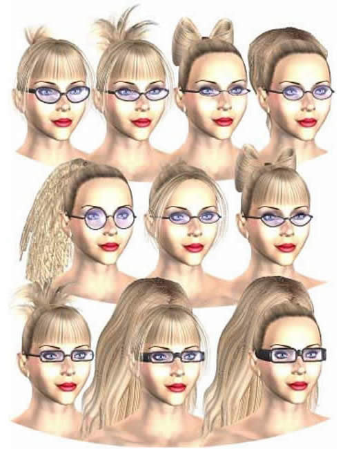 Victoria's Changing Eyewear by: , 3D Models by Daz 3D
