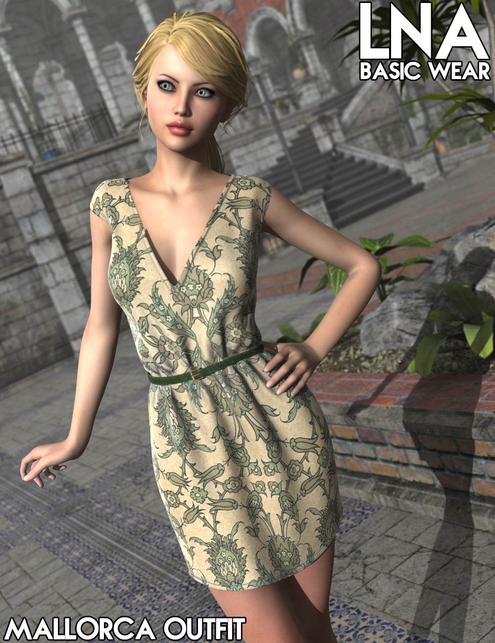 LNA Basic Wear Mallorca Outfit by: Luthbellina, 3D Models by Daz 3D