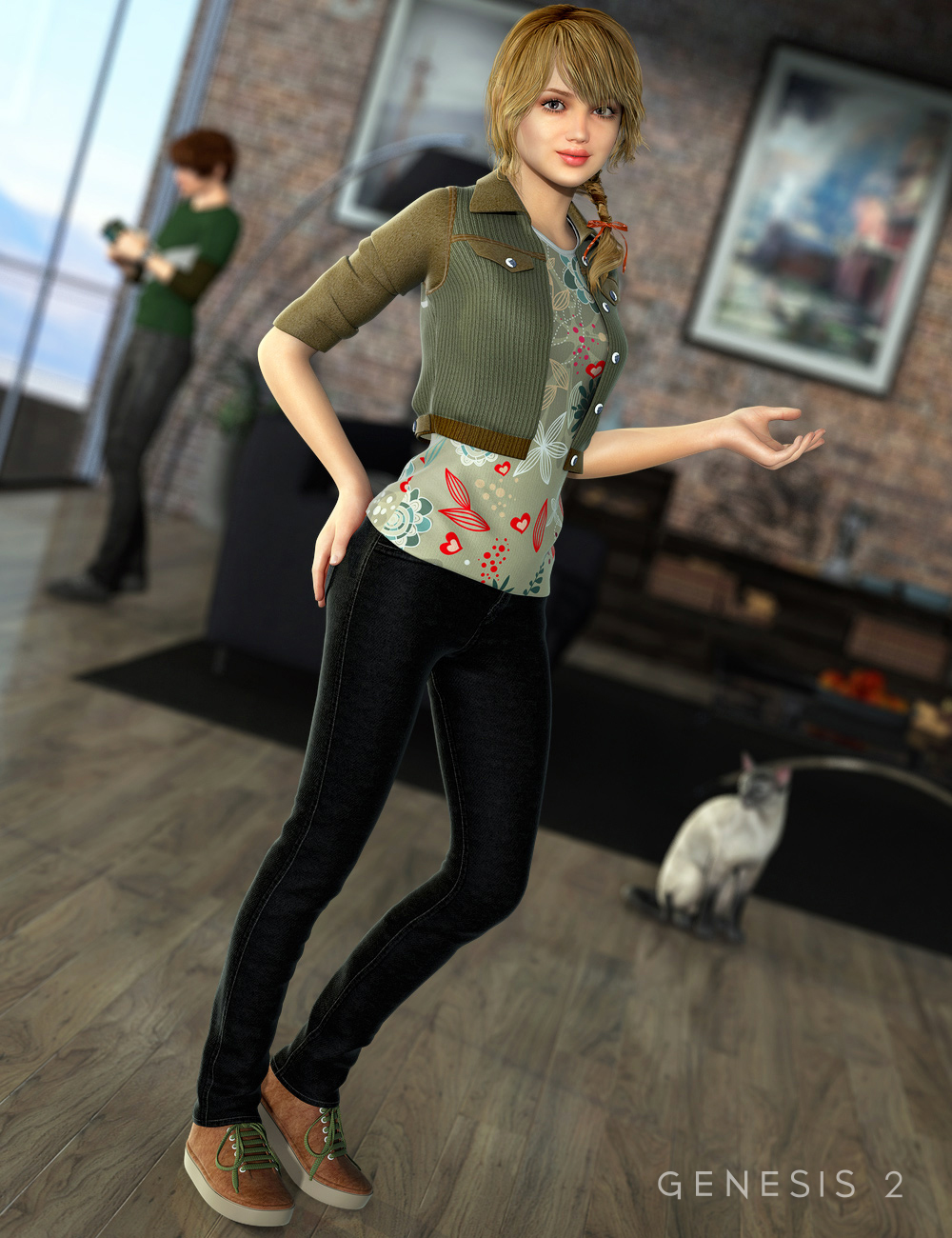 Ciao Bella Outfit for Genesis 2 Female(s) by: Mada, 3D Models by Daz 3D