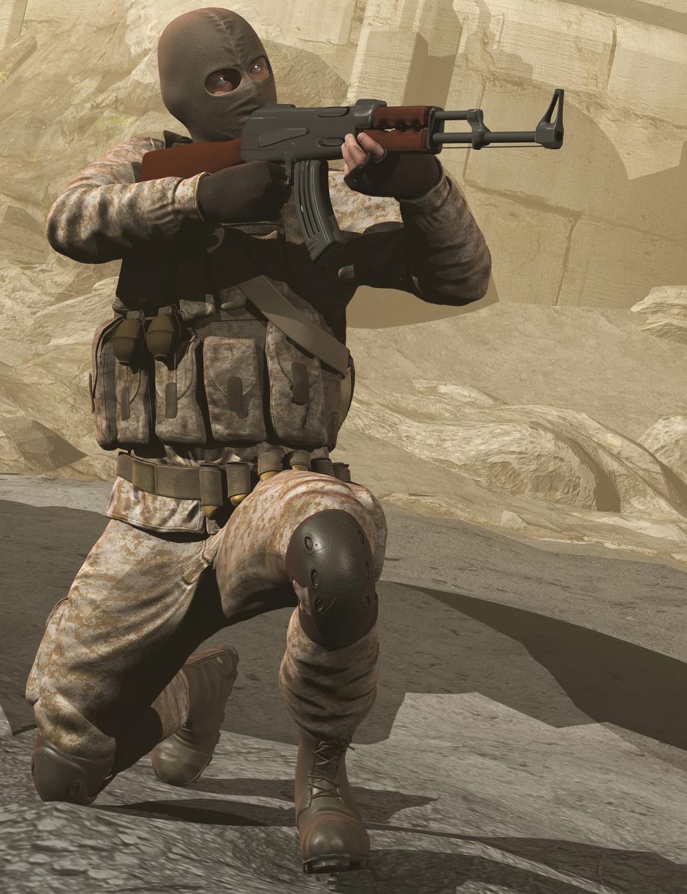 Soldier for Genesis 2 Male(s) by: Yura, 3D Models by Daz 3D
