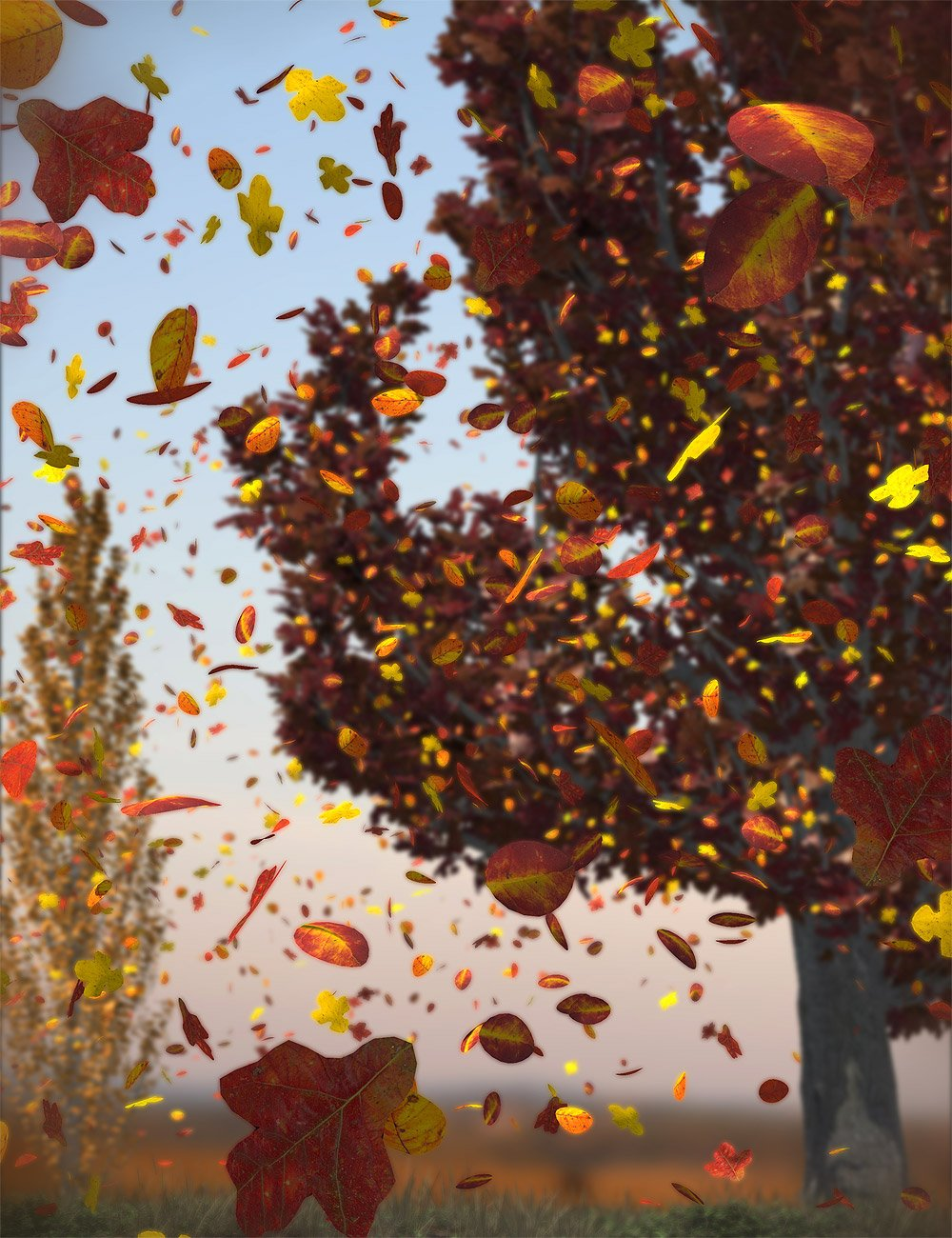 Orestes Falling Leaves by: Orestes Graphics, 3D Models by Daz 3D