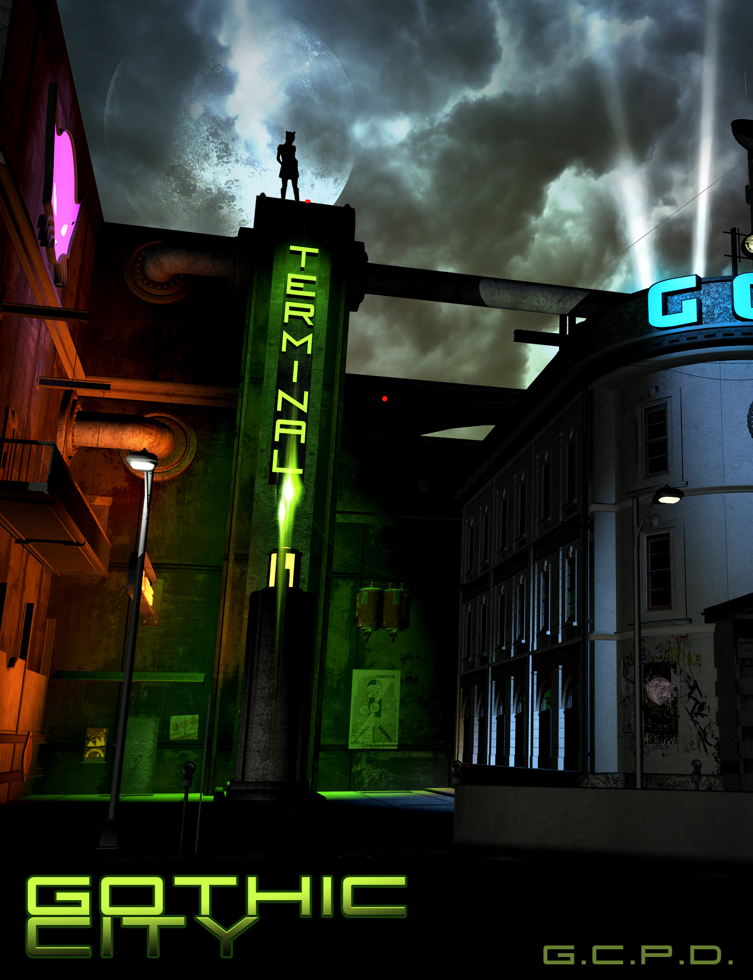 Gothic City by: The AntFarm, 3D Models by Daz 3D