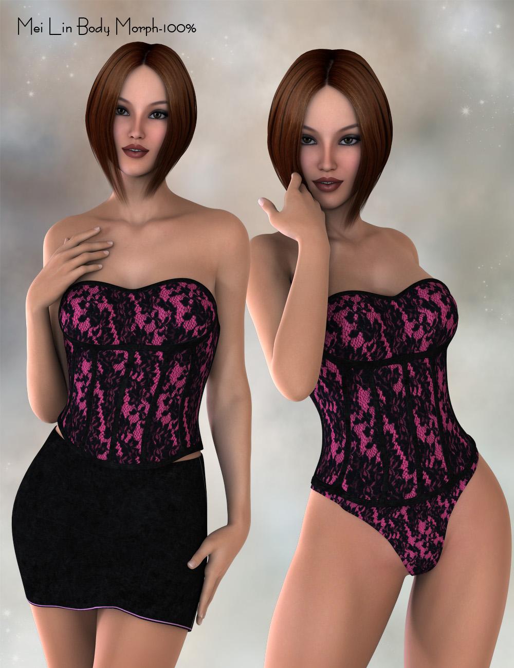 Dreamer Corset Set for Genesis 2 Female(s) by: PandyGirl, 3D Models by Daz 3D