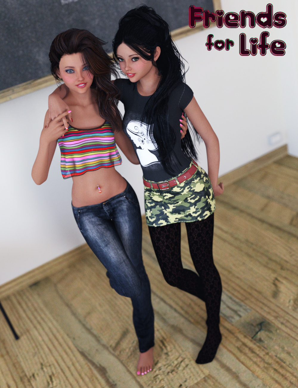 Friends For Life Poses by: Mattymanx, 3D Models by Daz 3D