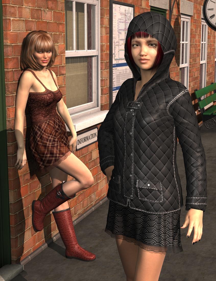 Autumn Rain for Genesis 2 Female(s) by: Dogz, 3D Models by Daz 3D
