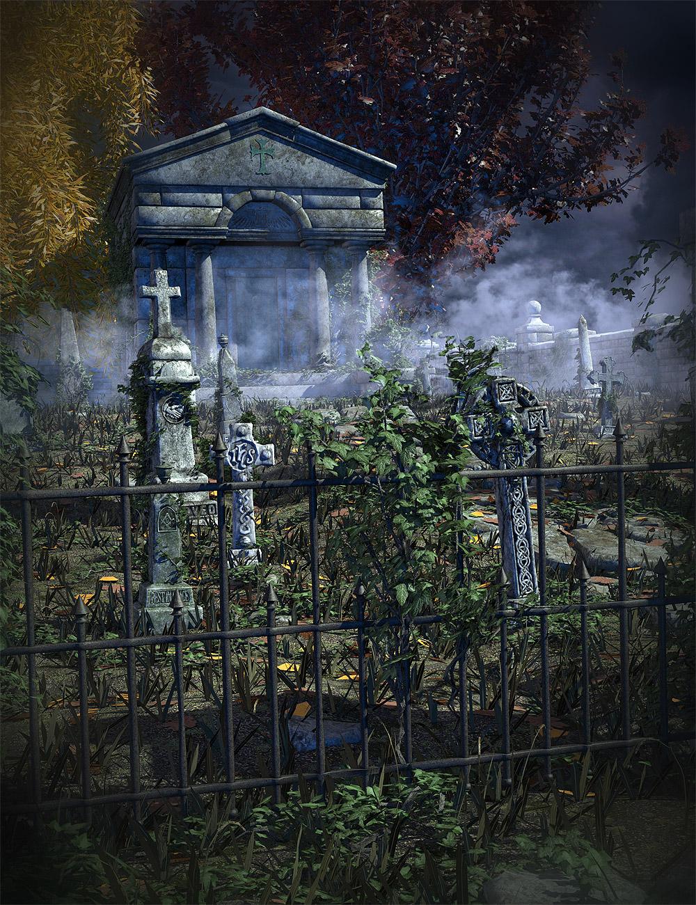 Oak Hill Cemetery Bundle by: Orestes Graphics, 3D Models by Daz 3D