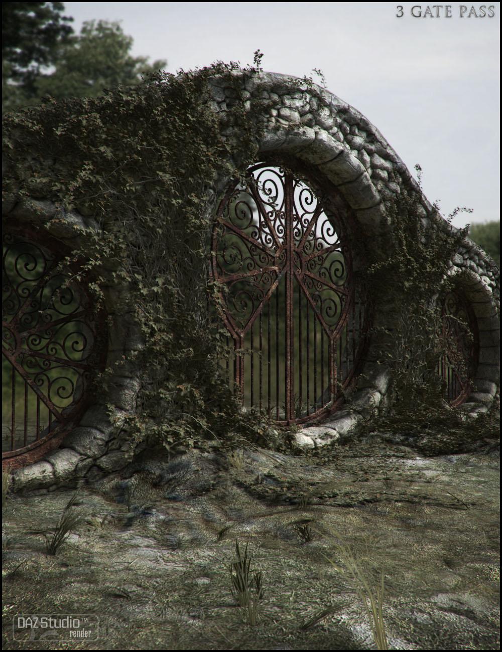 3 Gate Pass by: Jack Tomalin, 3D Models by Daz 3D