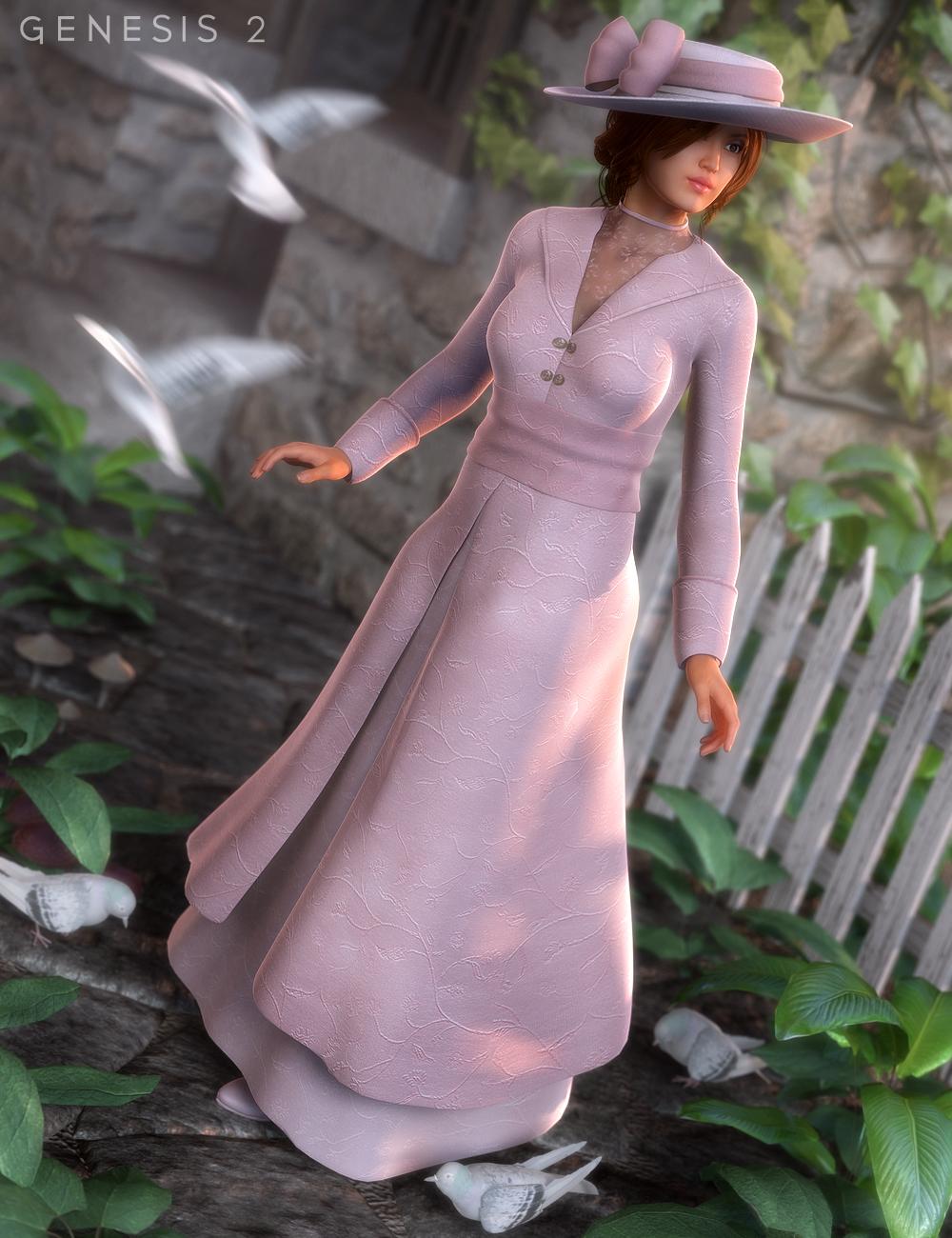 Edwardian Suit for Genesis 2 Female(s) by: Ravenhair, 3D Models by Daz 3D