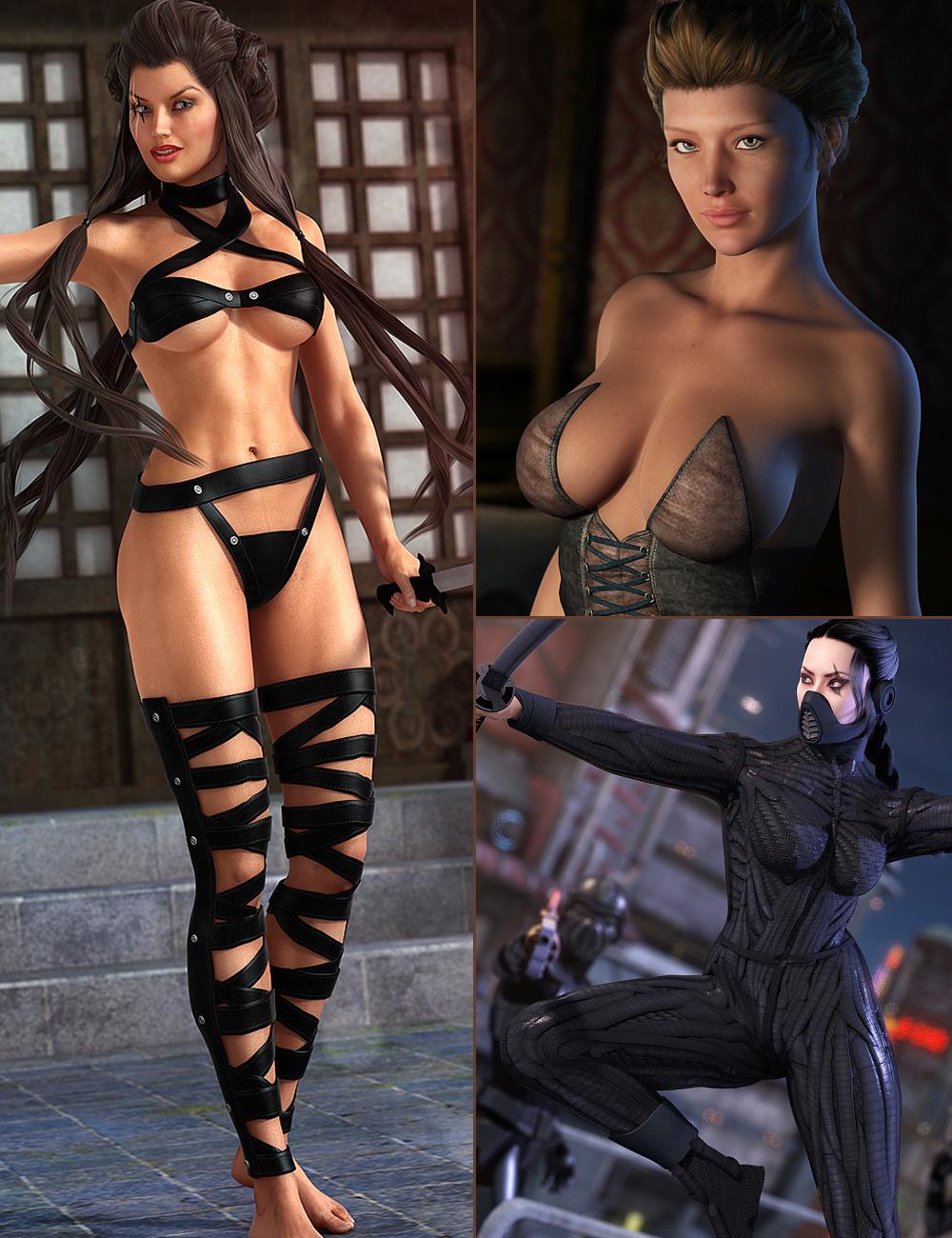 Femme Fatale Bundle by: , 3D Models by Daz 3D