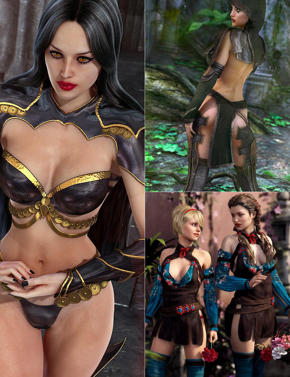 Genesis 2 Female Adventure Bundle by: , 3D Models by Daz 3D
