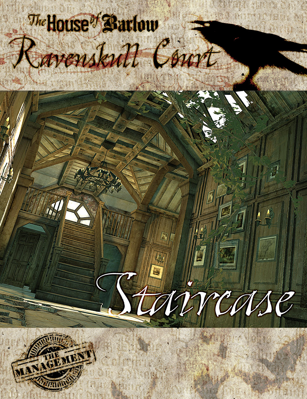 The Barlow House Ravenskull Stair Hall by: The Management, 3D Models by Daz 3D