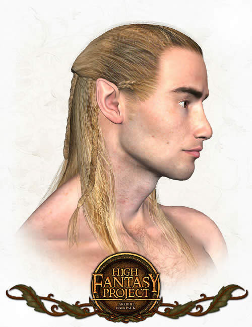 Aredhel (Elf) Hair by: 3D Universe, 3D Models by Daz 3D