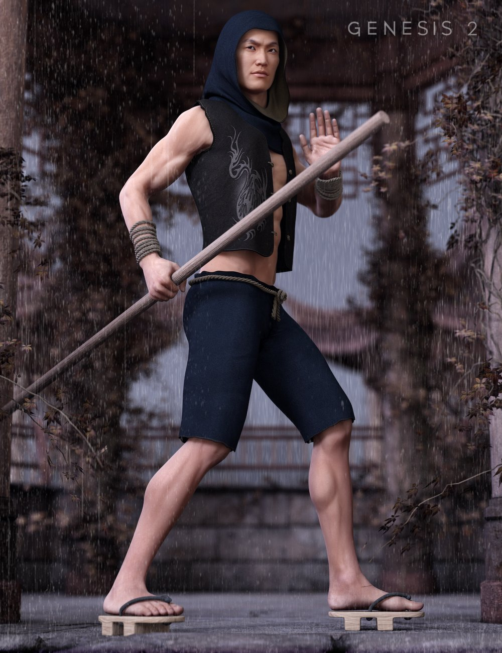 Min Woo for Genesis 2 Male(s) by: Sarsa, 3D Models by Daz 3D