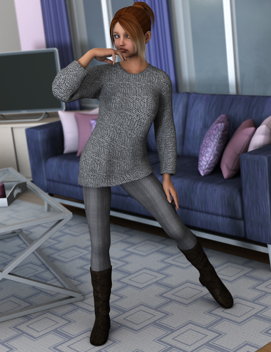 Casual Days for Belle 6 by: PandyGirl, 3D Models by Daz 3D