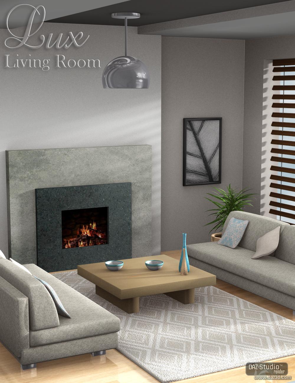 Lux Living Room Scene by: Nikisatez, 3D Models by Daz 3D
