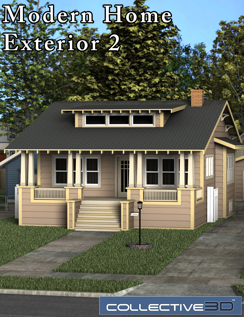 Collective3d Modern Home Exterior 2 by: Collective3d, 3D Models by Daz 3D