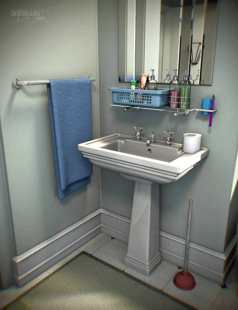 Collective3d Bathroom Stuff by: Collective3d, 3D Models by Daz 3D