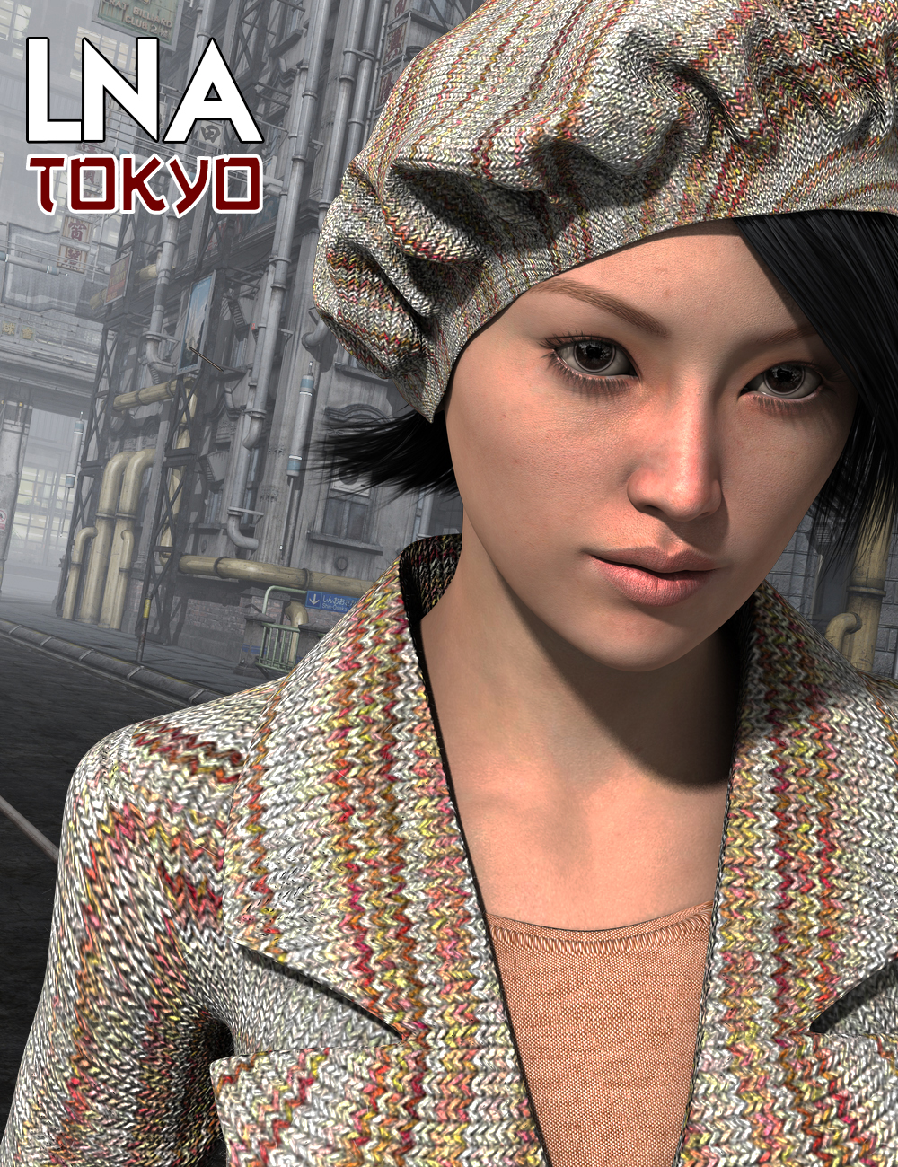 LNA Tokyo for Genesis 2 Female(s) by: Luthbellina, 3D Models by Daz 3D