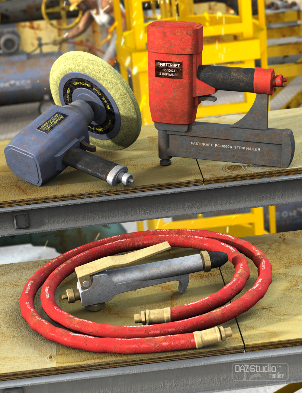 Industrial Pneumatic Tools by: Nightshift3D, 3D Models by Daz 3D