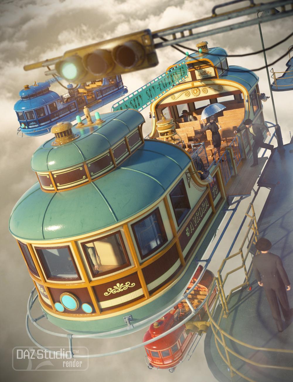 Skyship Avrora by: petipet, 3D Models by Daz 3D