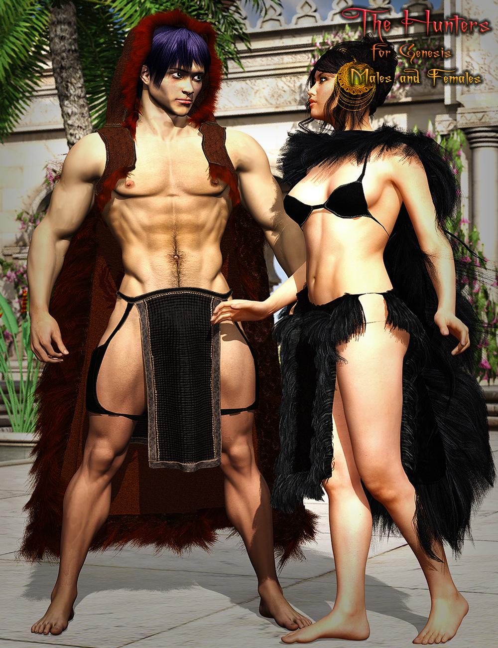 The Hunters For Genesis 2 Bundle by: MartinJFrost, 3D Models by Daz 3D