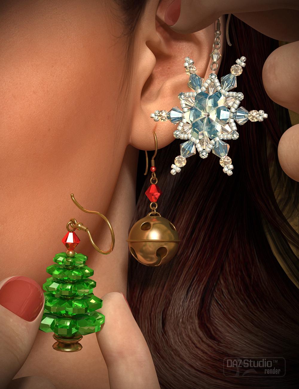 Christmas Earrings for Genesis 2 Female(s) by: Fisty & Darc, 3D Models by Daz 3D