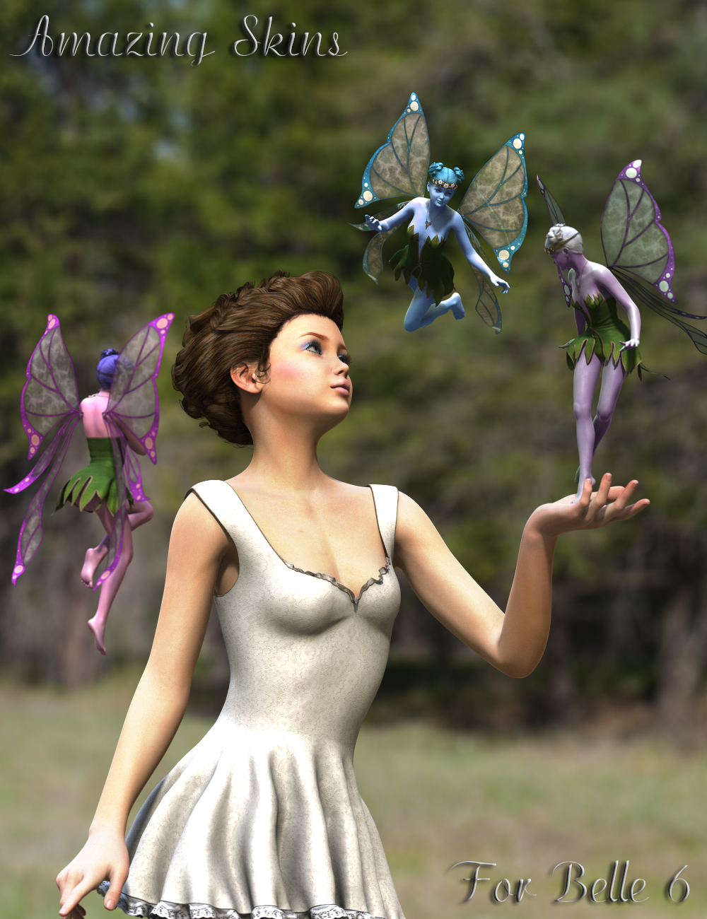 Amazing Skins For Belle 6 by: V3Digitimes, 3D Models by Daz 3D
