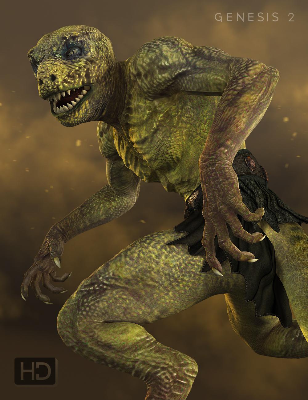 Reptilian 6 HD for Genesis 2 Male(s) by: , 3D Models by Daz 3D