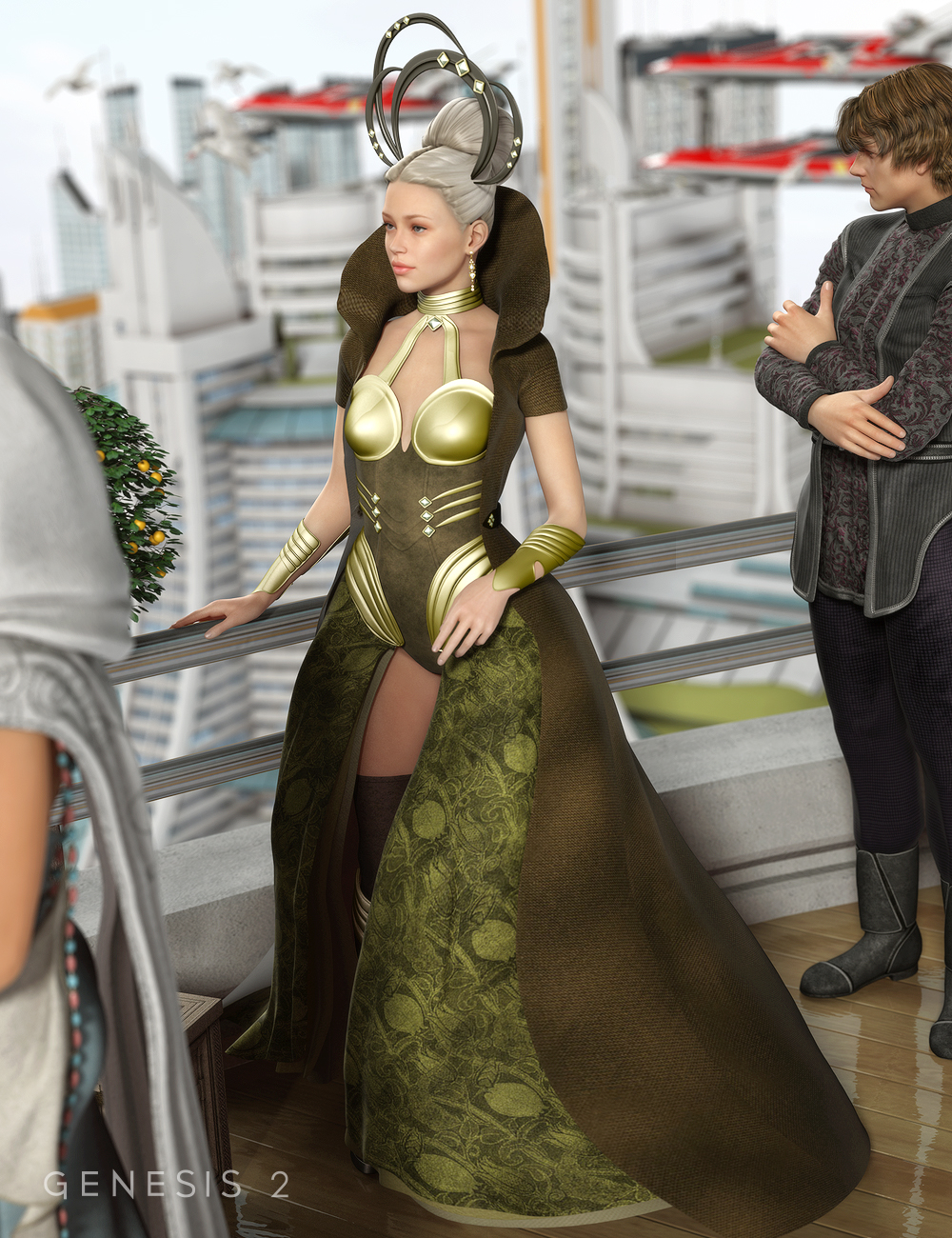 GIS Empress for Genesis 2 Female(s) by: Ravenhair, 3D Models by Daz 3D