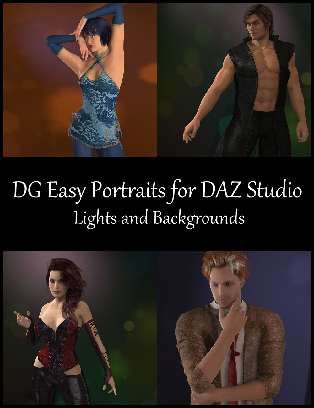 DG Easy Portrait Lights for DAZ Studio by: IDG DesignsDestinysGarden, 3D Models by Daz 3D