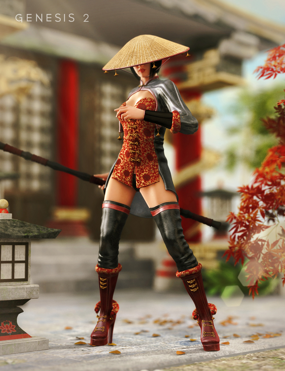 Storm Queen Outfit for Genesis 2 Female(s) by: ArienVal3dart, 3D Models by Daz 3D