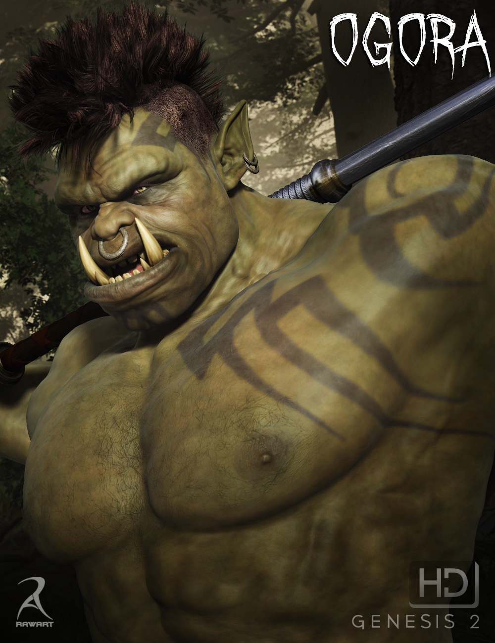 Ogora the Orc HD by: RawArt, 3D Models by Daz 3D