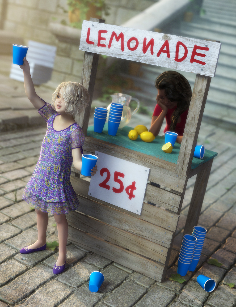 Lemonade Stand by: Atticus Bones, 3D Models by Daz 3D