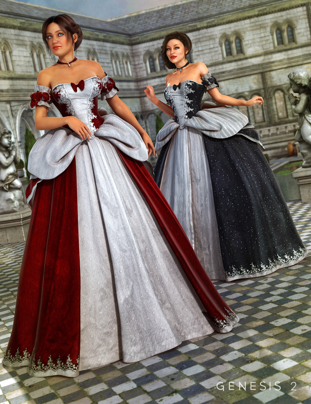Cinderella Ball Gown Textures 3d Models And 3d Software By Daz 3d