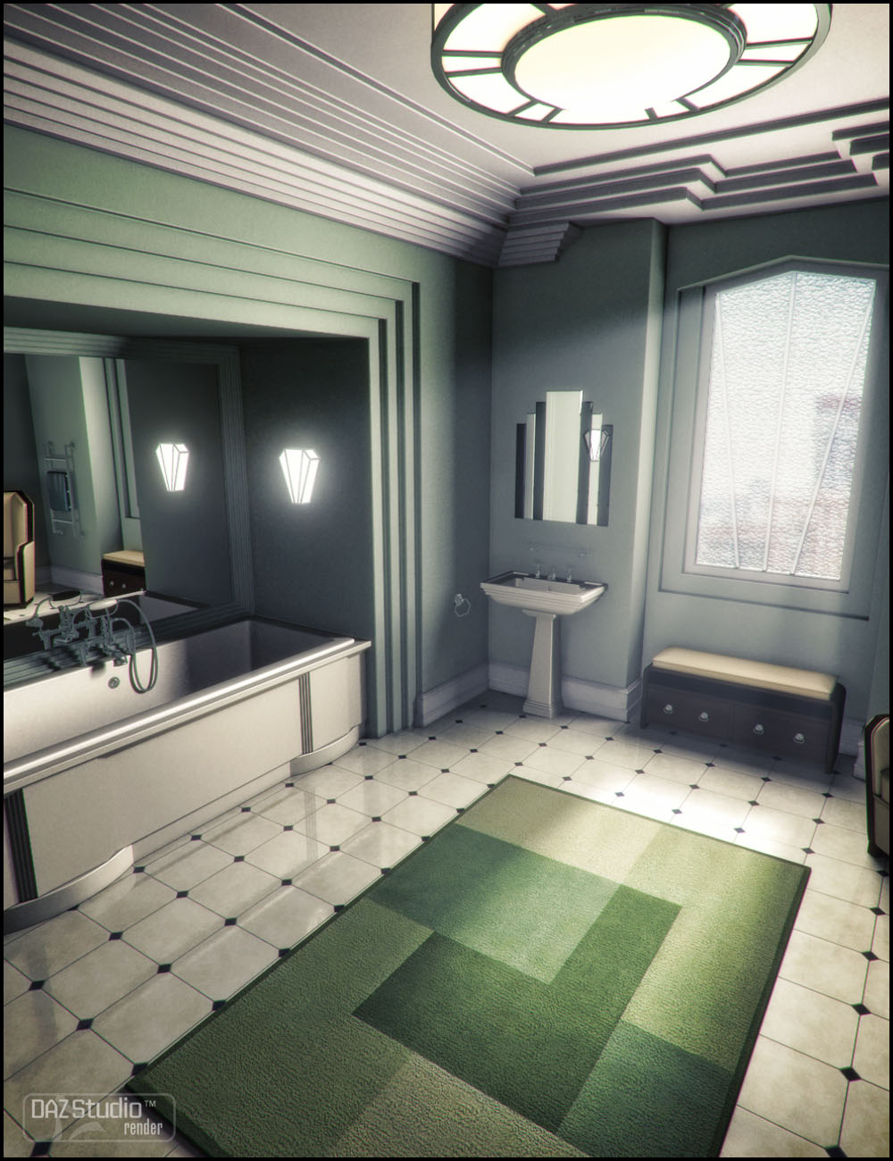 Classic Deco Eclectic 2 by: Jack Tomalin, 3D Models by Daz 3D