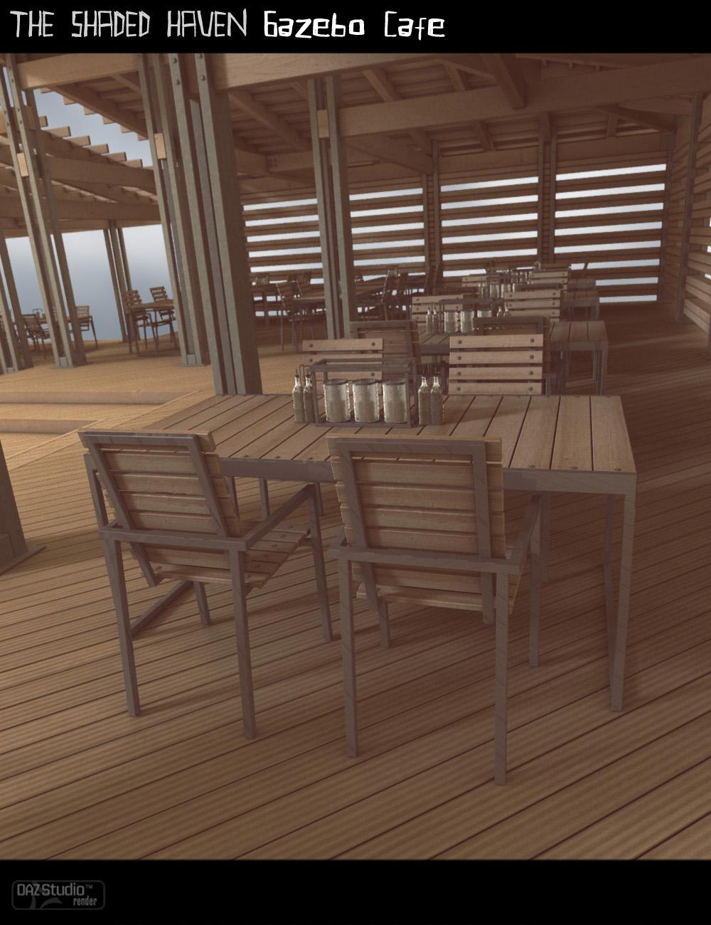 Shaded Haven Gazebo Cafe by: ForbiddenWhispersFWDesign, 3D Models by Daz 3D