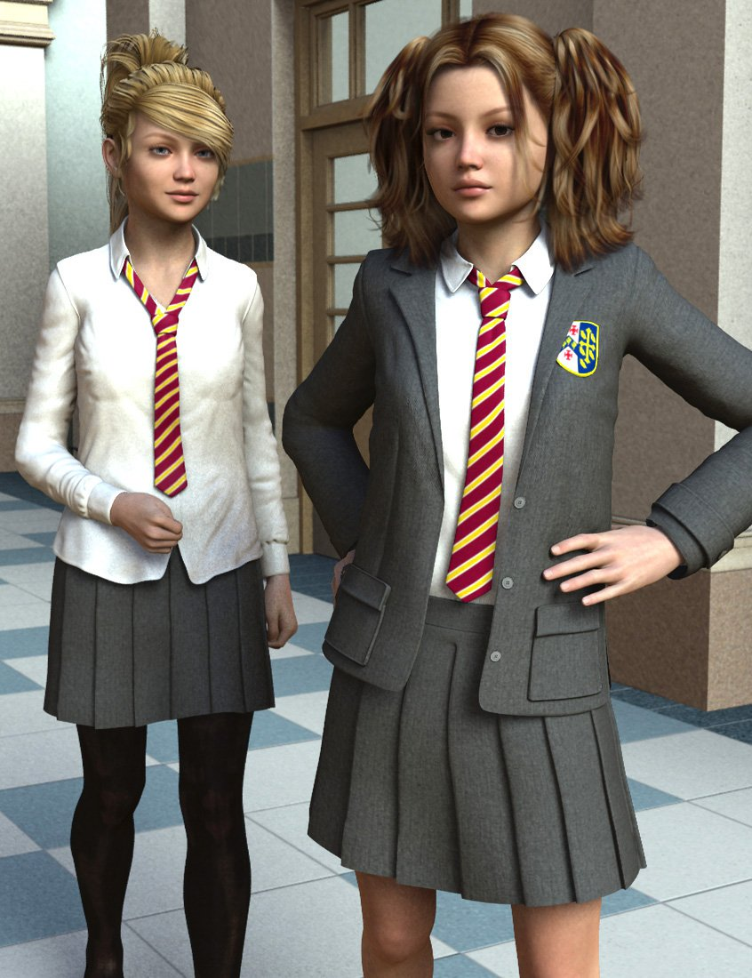 Time for School for Genesis 2 Female(s) by: Dogz, 3D Models by Daz 3D