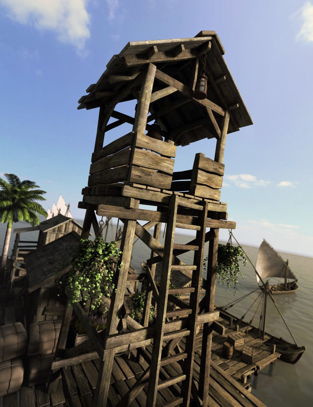 Lake Village by: Faveral, 3D Models by Daz 3D