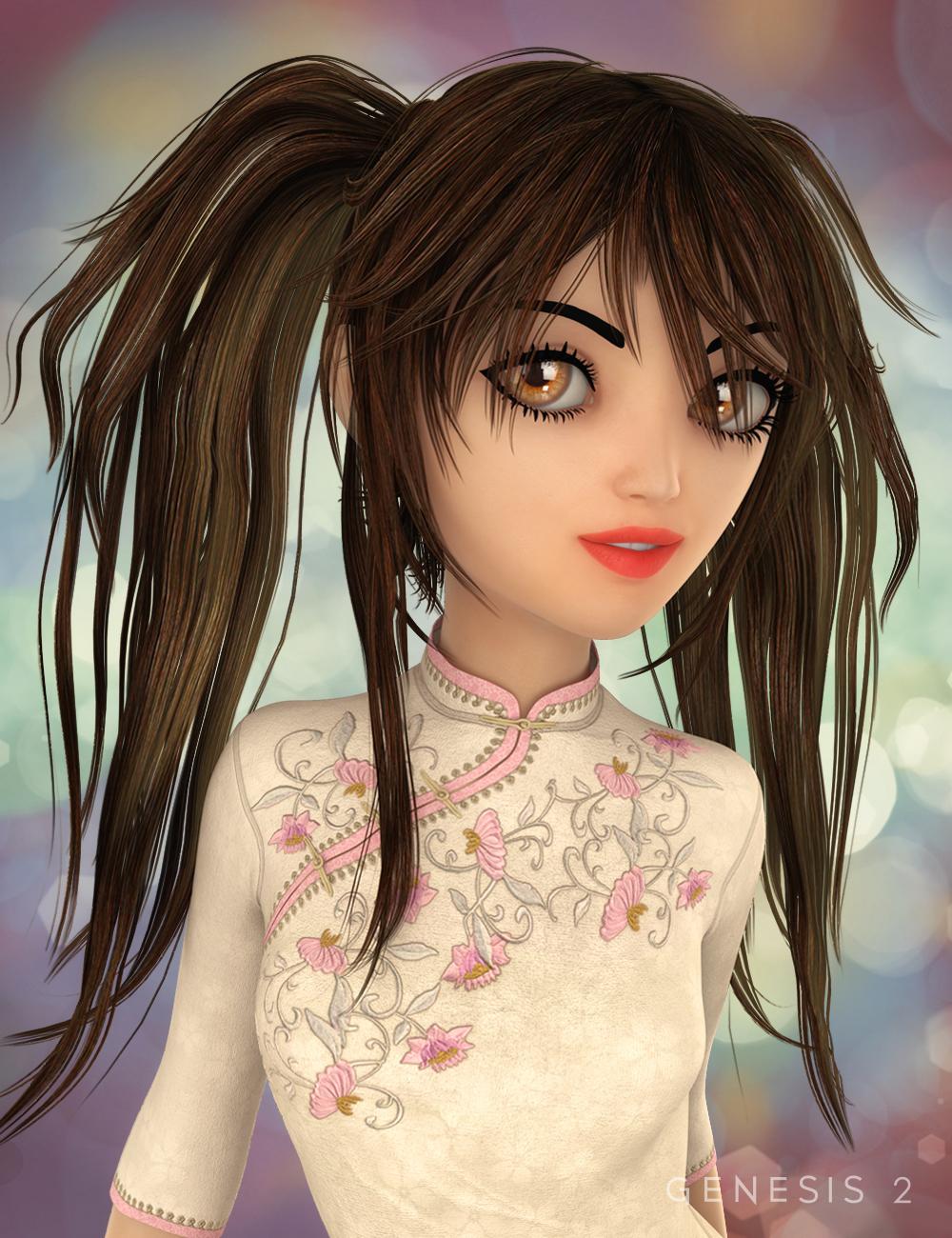 Jazmin Hair for Genesis 2 Female(s) by: goldtassel, 3D Models by Daz 3D