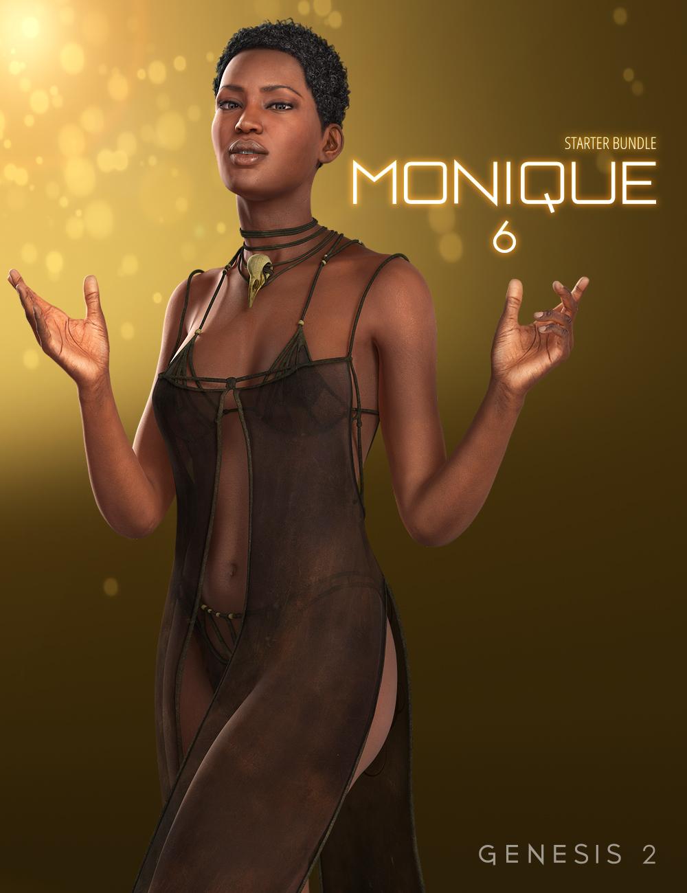 Monique 6 Starter Bundle by: , 3D Models by Daz 3D