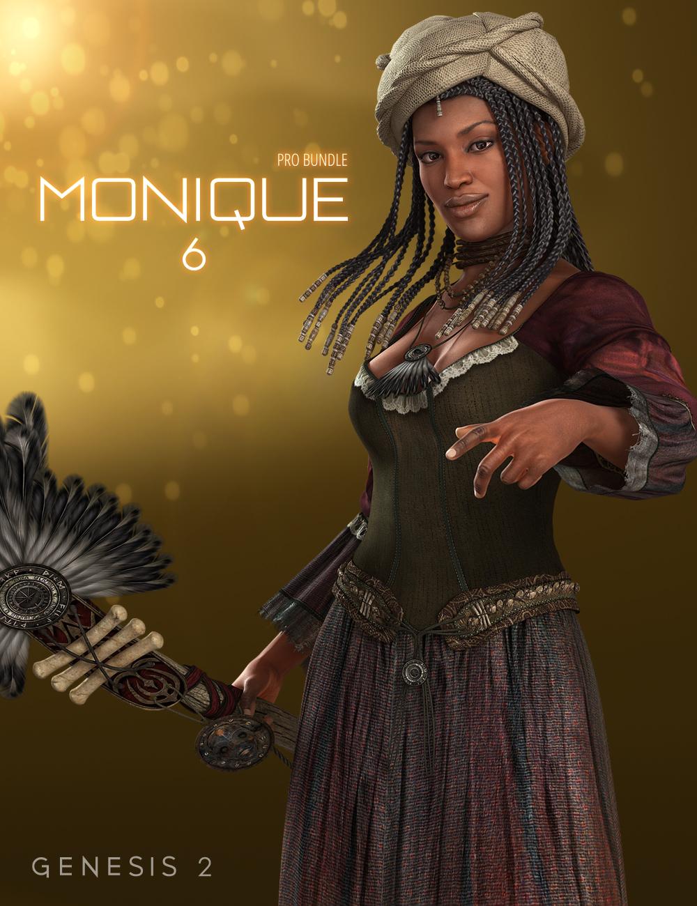 Monique 6 Pro Bundle by: , 3D Models by Daz 3D
