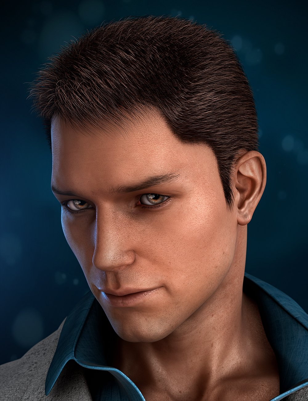 Real Short Hair for Genesis 2 Male(s) by: Laticis Imagery, 3D Models by Daz 3D