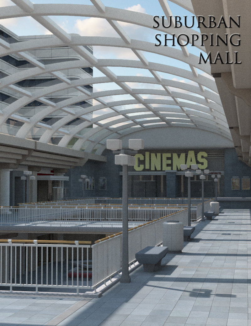 Suburban Shopping Mall by: FirstBastion, 3D Models by Daz 3D
