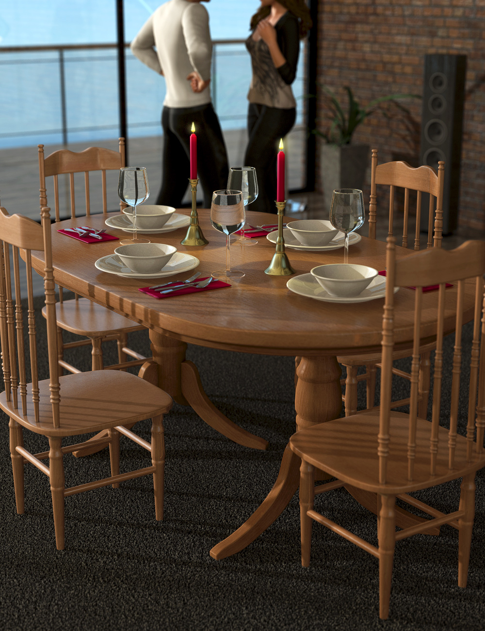 The Dining Collection by: ARTCollab, 3D Models by Daz 3D
