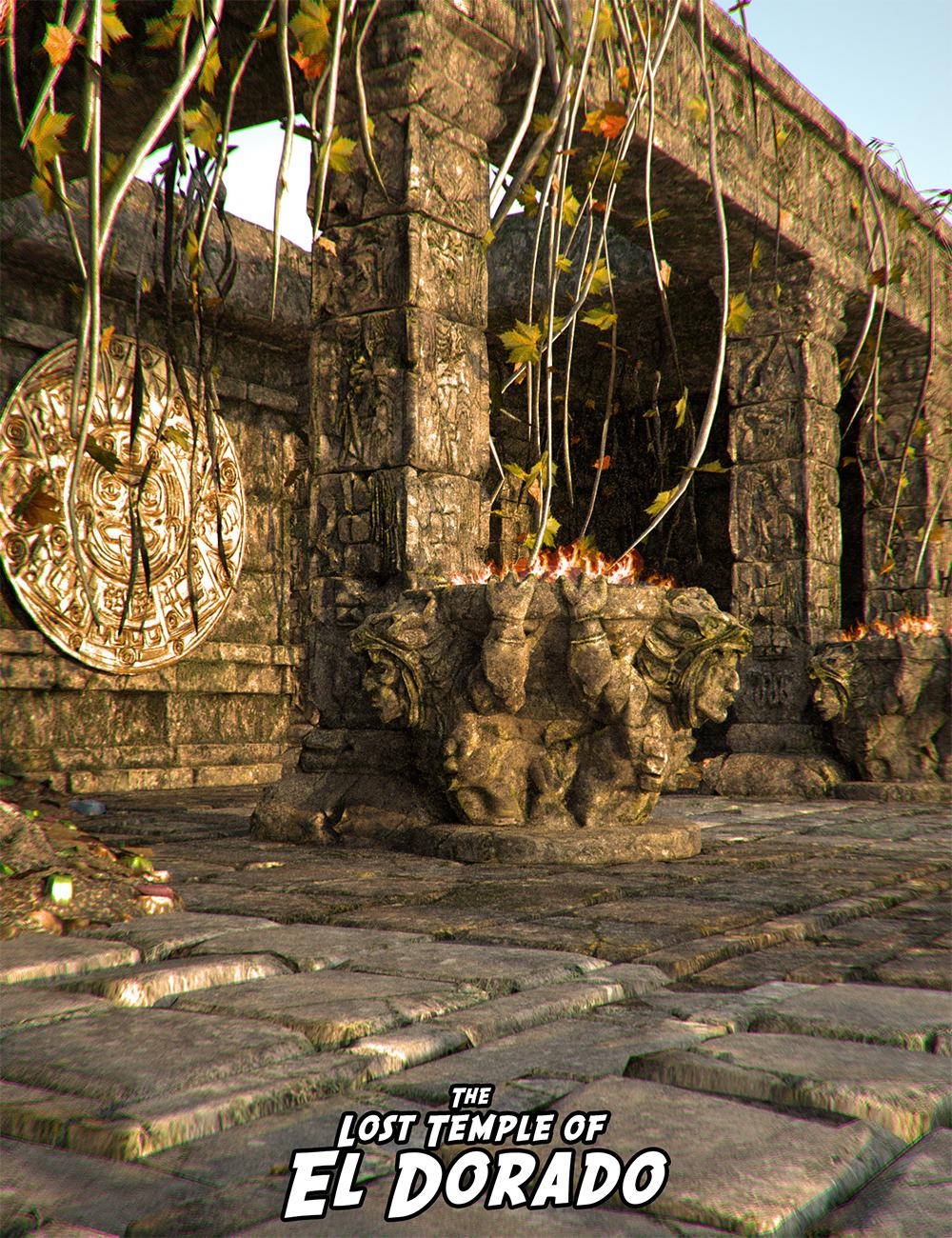 Lost Temples: El Dorado by: Luthbel, 3D Models by Daz 3D