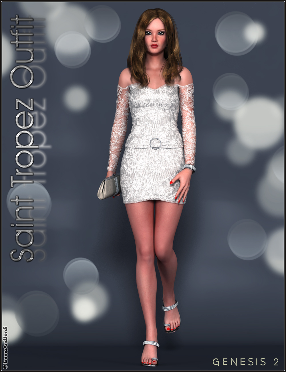 Saint Tropez Outfit and Accessories by: EmmaAndJordi, 3D Models by Daz 3D