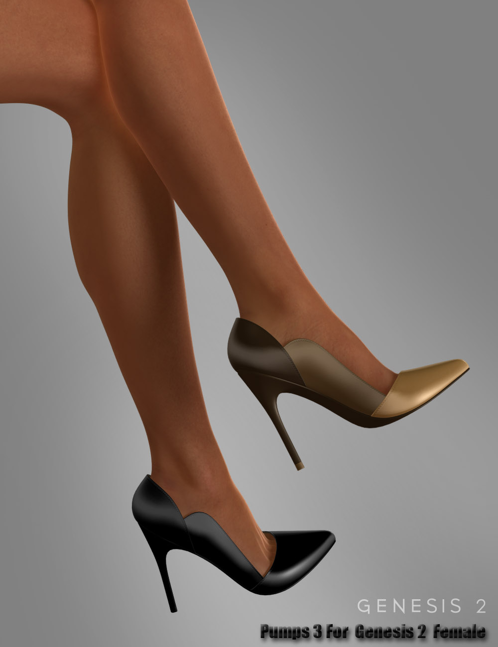 Pumps 3 for Genesis 2 Female(s) by: dx30, 3D Models by Daz 3D