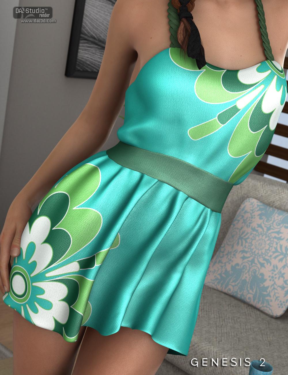 Seana Dress for Genesis 2 Female(s) by: Nikisatez, 3D Models by Daz 3D